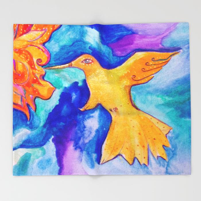 Sunbird Throw Blanket