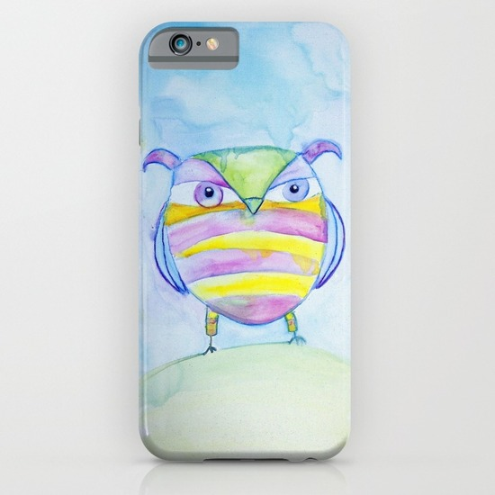 Striped Owl iPhone Case