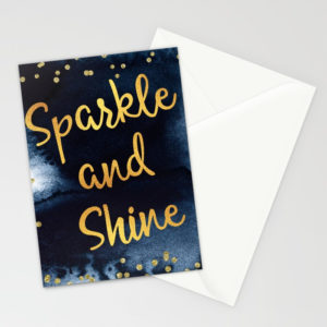 sparkle-and-shine-gold-and-black-ink-typography-art-cards (1)