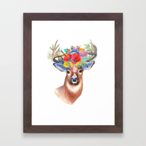 watercolor-fairytale-stag-with-crown-of-flowers327810-framed-prints