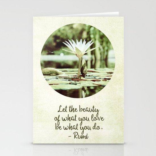 zen-flower-water-lily-with-inspirational-rumi-quote-cards